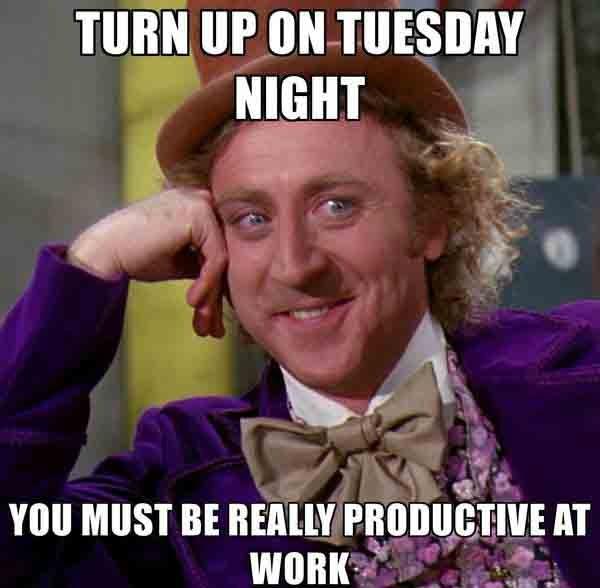 tuesday work meme